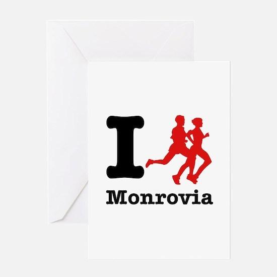 I Run Monrovia Greeting Card