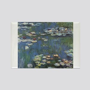 Waterlilies Rectangle Magnet