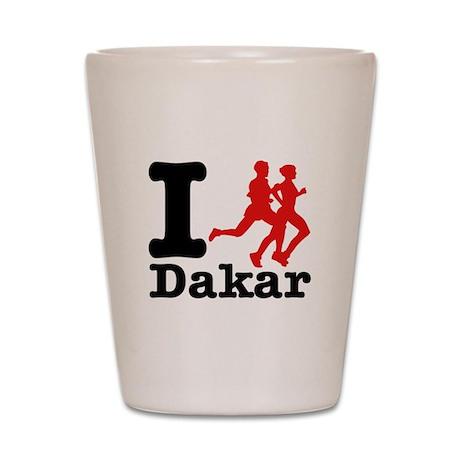 I Run Dakar Shot Glass