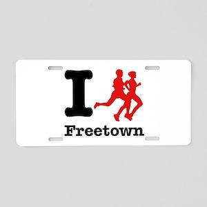 I Run Freetown Aluminum License Plate
