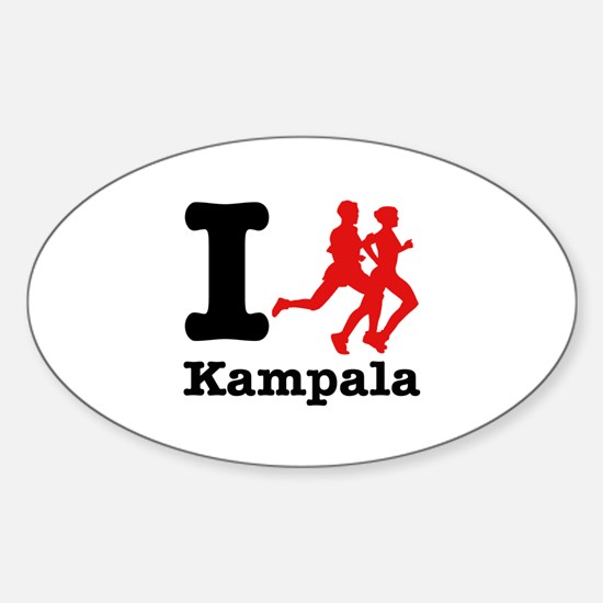 I Run Kampala Sticker (Oval)