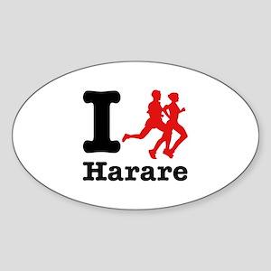 I Run Harare Sticker (Oval)