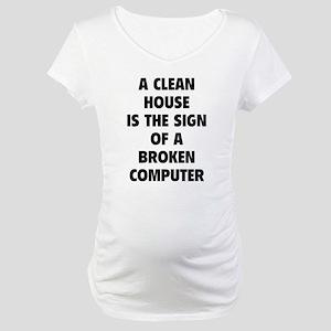 Broken Computer Maternity T-Shirt