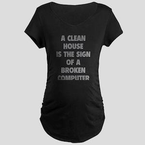 Broken Computer Maternity Dark T-Shirt