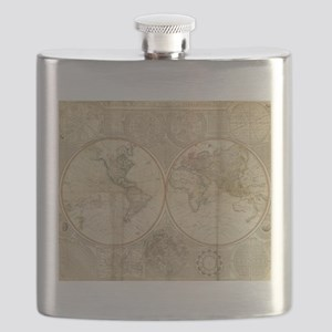 Vintage Map of The World (1799) 2 Flask