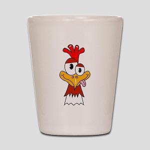 Crazy Chicken Head Shot Glass