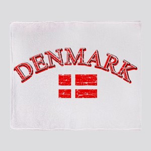 Denmark Soccer Designs Throw Blanket