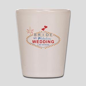 Vegas Bride Shot Glass