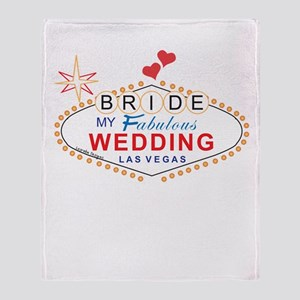 Vegas Bride Throw Blanket