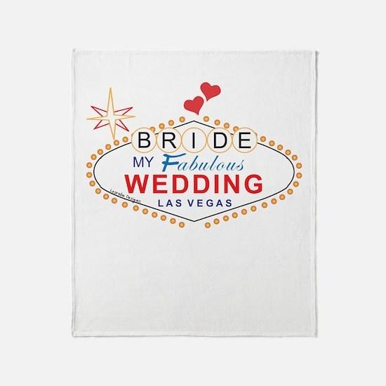 Vegas Bride Throw Blanket