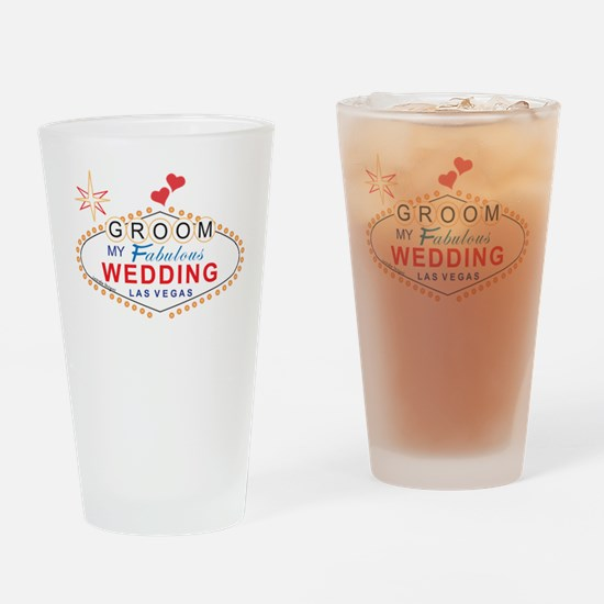 Las Vegas Groom Drinking Glass