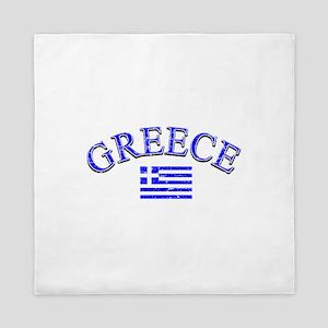 Greece Soccer Designs Queen Duvet
