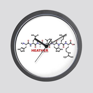 Heather molecularshirts.com Wall Clock
