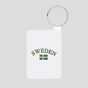 Sweden Soccer Designs Aluminum Photo Keychain