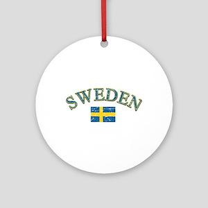Sweden Soccer Designs Ornament (Round)