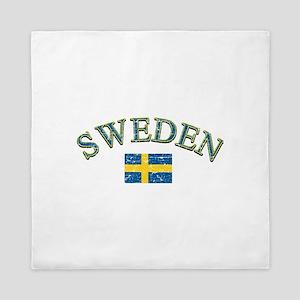 Sweden Soccer Designs Queen Duvet