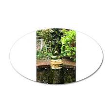 the Fountain 22x14 Oval Wall Peel