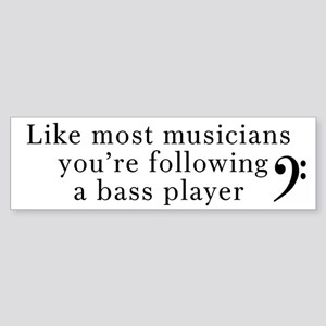 Bass Player Sticker (Bumper)