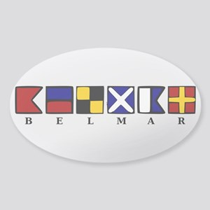 Nautical Belmar Sticker (Oval)