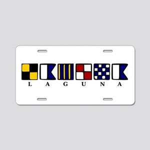 Nautical Laguna Aluminum License Plate