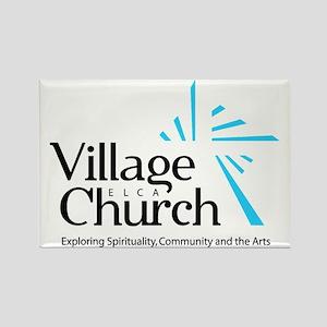 Village Church Rectangle Magnet