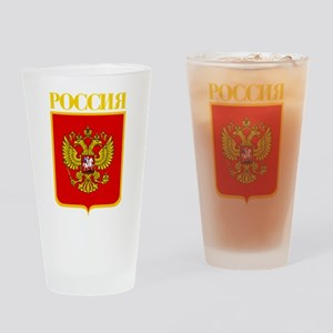 Russian Federation COA Drinking Glass