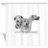 Irish wolfhound Shower Curtains