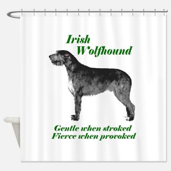 Irish Wolfhound Gentle when stroked Shower Cur
