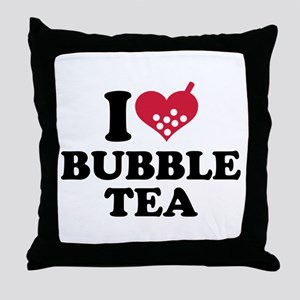 I love Bubble Tea Throw Pillow