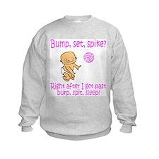 Pink Volleyball Burp, spit, s Kids Sweatshirt