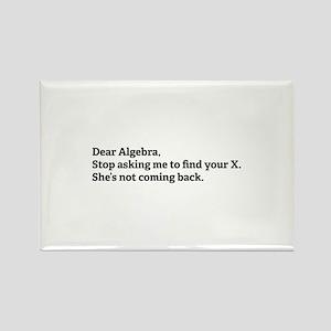 Dear Algebra Rectangle Magnet