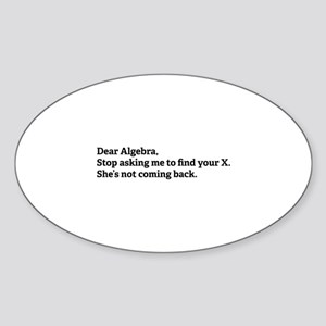 Dear Algebra Sticker (Oval)