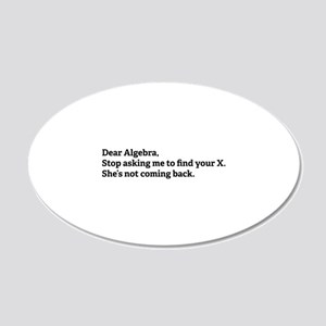 Dear Algebra 22x14 Oval Wall Peel