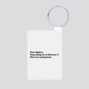 Dear Algebra Aluminum Photo Keychain