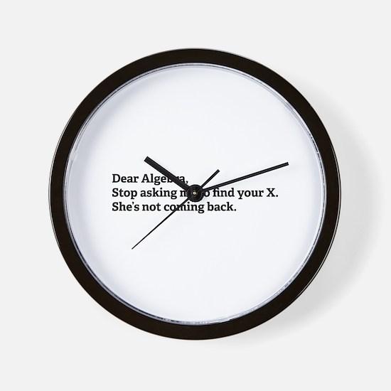 Dear Algebra Wall Clock