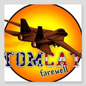 f-14 tomcat farewell Square Car Magnet