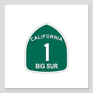 Big Sur, California Highway 1 Square Car Magnet