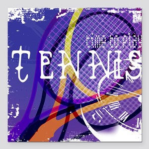 Time to Play Tennis Square Car Magnet