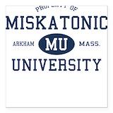 Miskatonic university Square Car Magnets