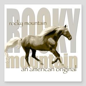 New Mountain Horse Design Square Car Magnet