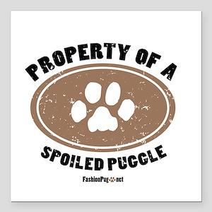 Puggle dog Square Car Magnet