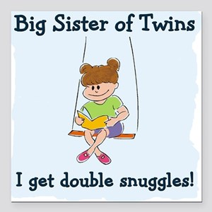 For Big Sisters Square Car Magnet