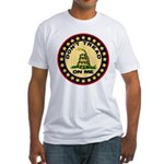 """""""Don't Tread On Me"""" Fitted T-Shirt"""