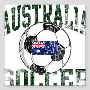 Australia Soccerball Square Car Magnet
