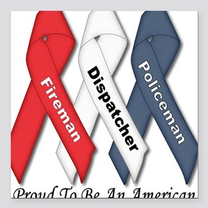 Proud American Square Car Magnet