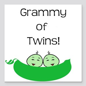 Grammy of twins Square Car Magnet