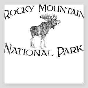 Rocky Mountain National Park (Moose) Square Car Ma