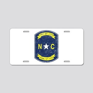 NC_shield Aluminum License Plate