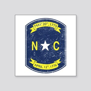 "NC_shield Square Sticker 3"" x 3"""