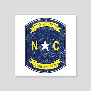 "NC_shield Square Sticker 3"" x 3"""